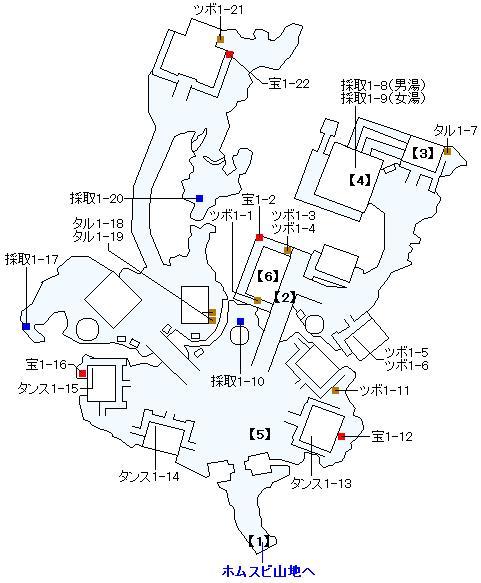 PS4版のストーリー攻略マップ・ホムラの里(1)