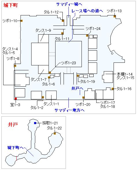 Switch(3D)&PS4版のストーリー攻略マップ・サマディー城下町(1)
