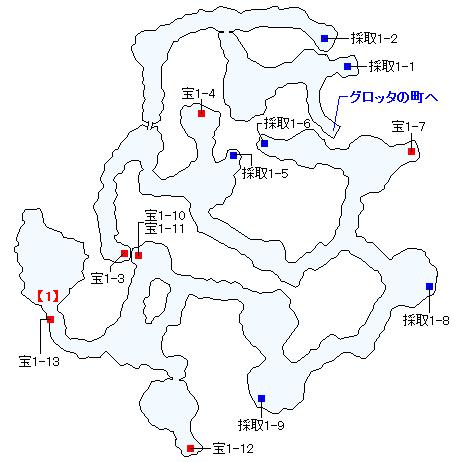 Switch(3D)&PS4版のストーリー攻略マップ・グロッタ地下遺構(1)