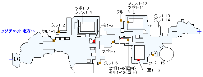 Switch(3D)&PS4版のストーリー攻略マップ・プチャラオ村(1)