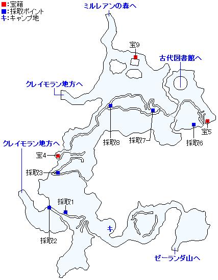 Switch(3D)&PS4版のストーリー攻略マップ・シケスビア雪原(1)