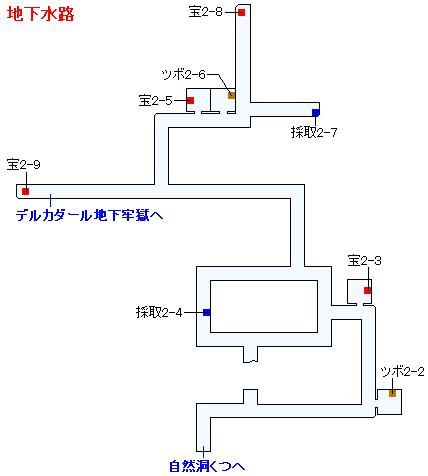 Switch(3D)&PS4版のストーリー攻略マップ・デルカダール地下水路(2)
