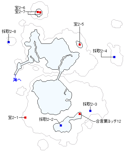 Switch(3D)&PS4版のストーリー攻略マップ・シケスビア雪原・南の島(1)
