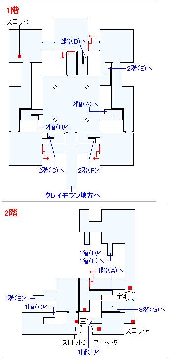 Switch(3D)&PS4版のストーリー攻略マップ・黄金城(1)