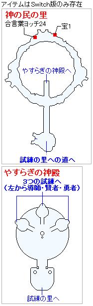 Switch(3D)&PS4版ストーリー攻略マップ・試練の里(1)
