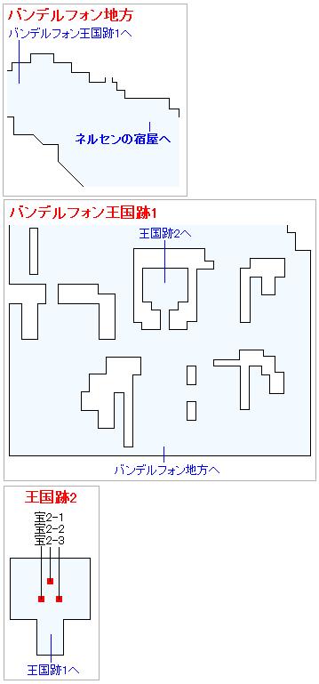 まほうのカギで入手出来るアイテム・バンデルフォン地方(3DS・2D)
