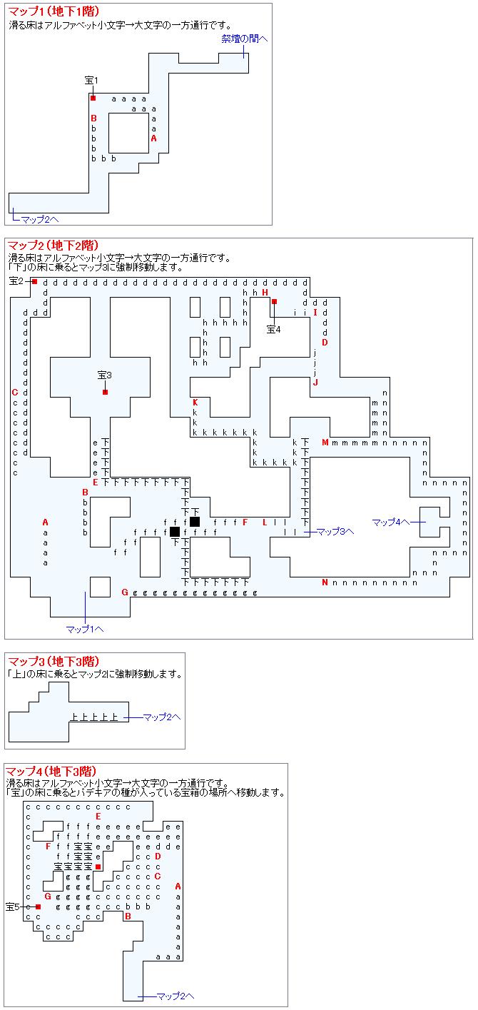 パデキアの洞くつ(IV:導かれし者の祭壇)のマップ画像