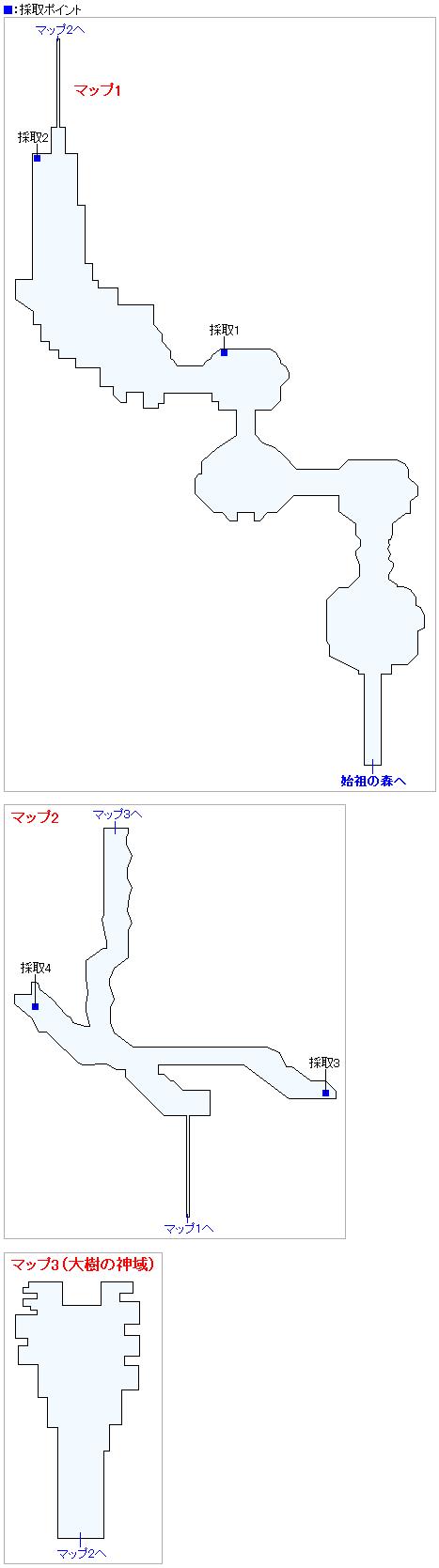 命の大樹(2Dモード)のマップ画像