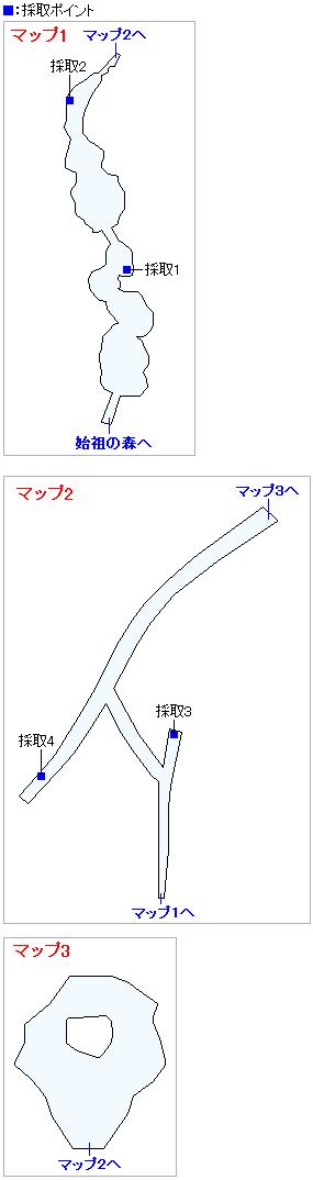 命の大樹(3DSの3Dモード)のマップ画像
