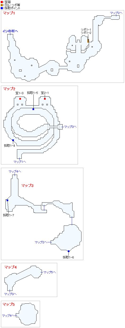 神の岩(Swith2Dと3DS2D)のマップ画像
