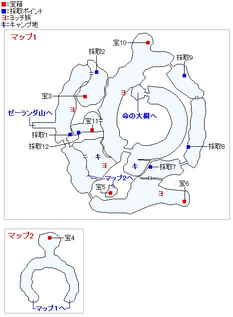 始祖の森(3DSの3Dモード)のマップ画像