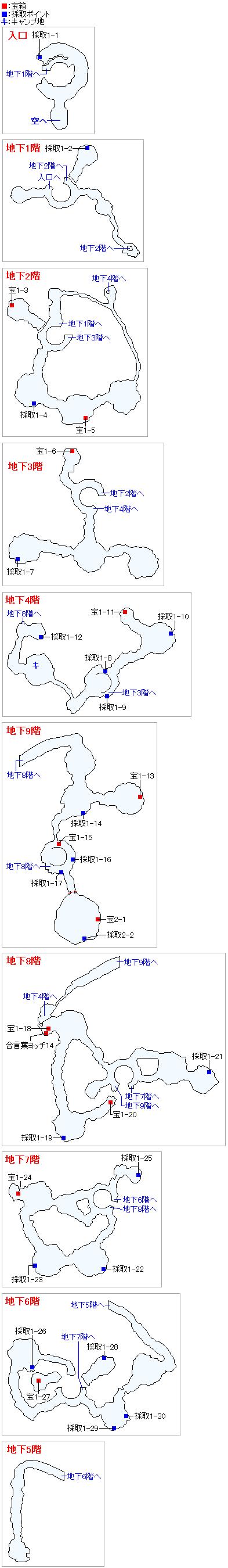 天空の古戦場(Switch3DとPS4)のマップ画像