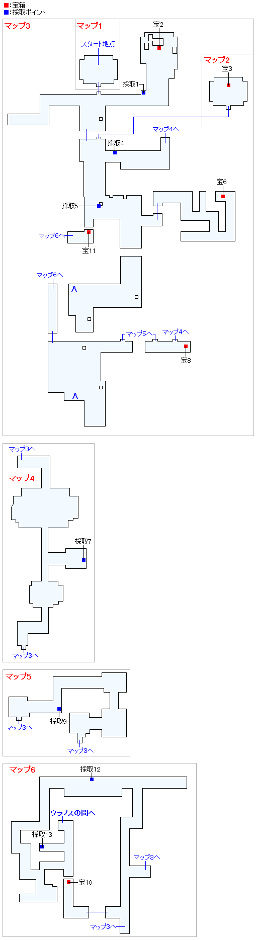 導師の試練・天啓の谷(ネルセンの迷宮)(Swith2Dと3DS2D)のマップ画像