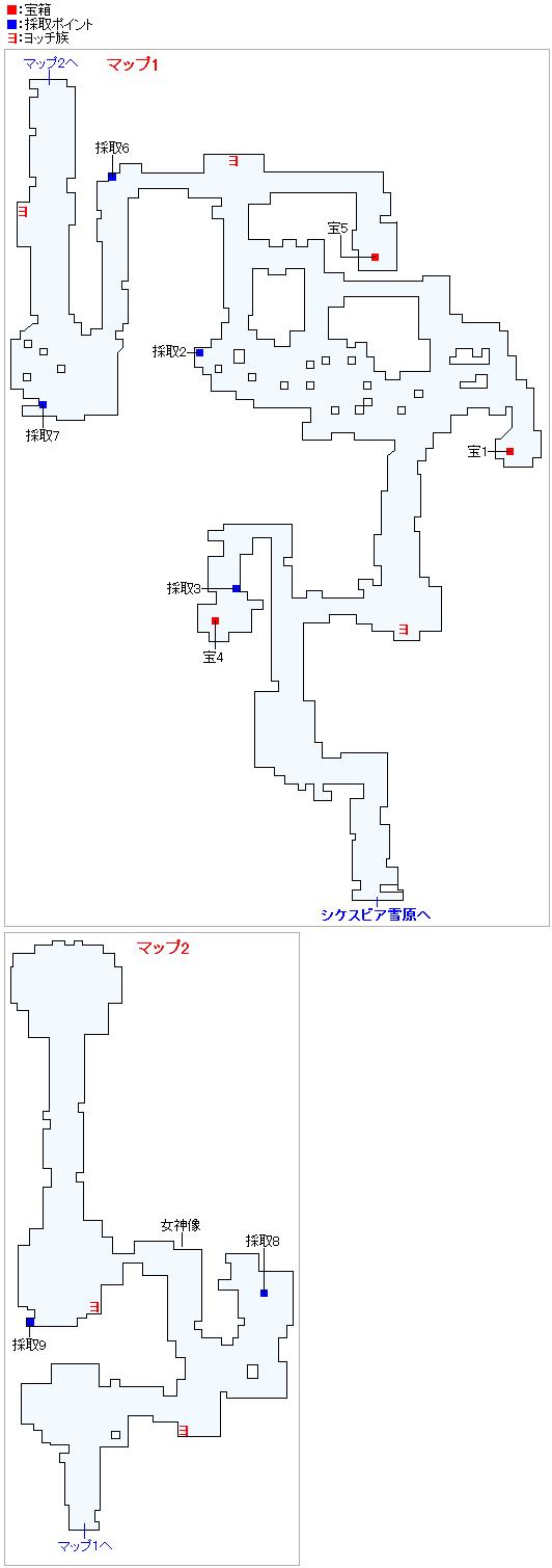 ミルレアンの森(2Dモード)のマップ画像