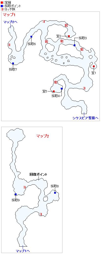 ミルレアンの森(3DSの3Dモード)のマップ画像