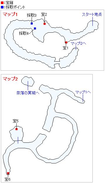 勇者の試練・常闇の山道(ネルセンの迷宮)(3DS・3Dモード)のマップ画像