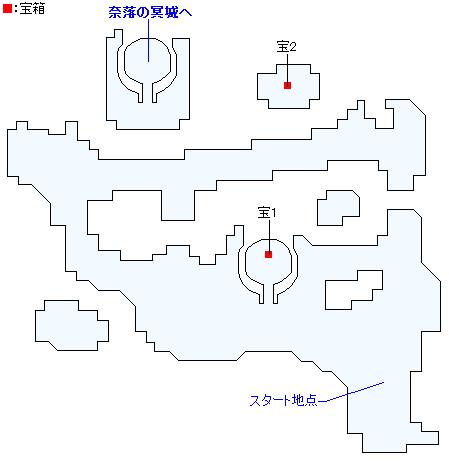 勇者の試練・常闇の庭園(ネルセンの迷宮)(2Dモード)のマップ画像