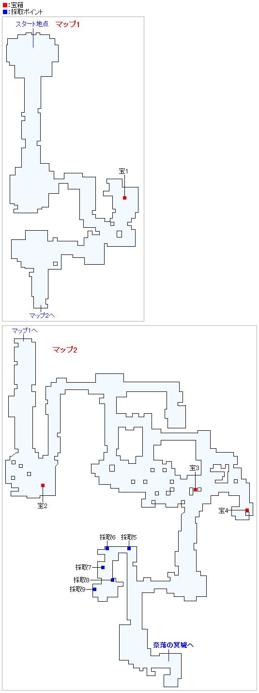 勇者の試練・常闇の氷原(ネルセンの迷宮)(Swith2Dと3DS2D)のマップ画像