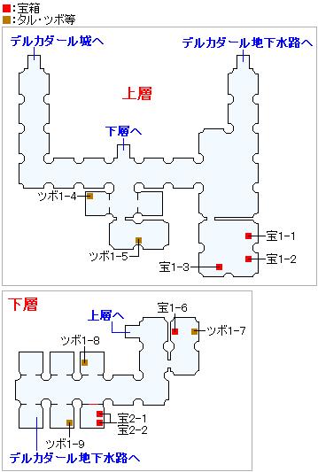 デルカダール地下牢獄(3DS以外の3Dモード)のマップ画像