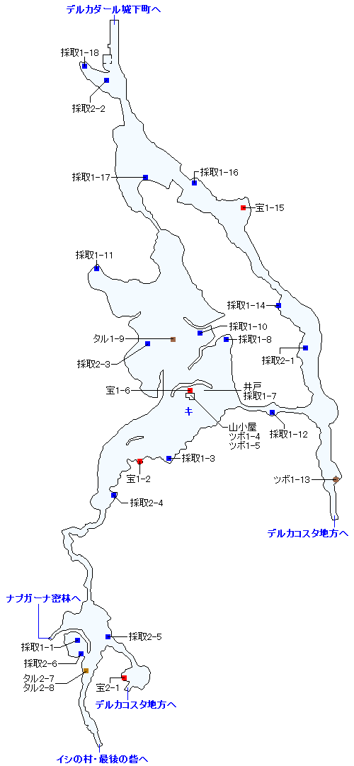デルカダール地方(3DS以外の3Dモード)のマップ画像