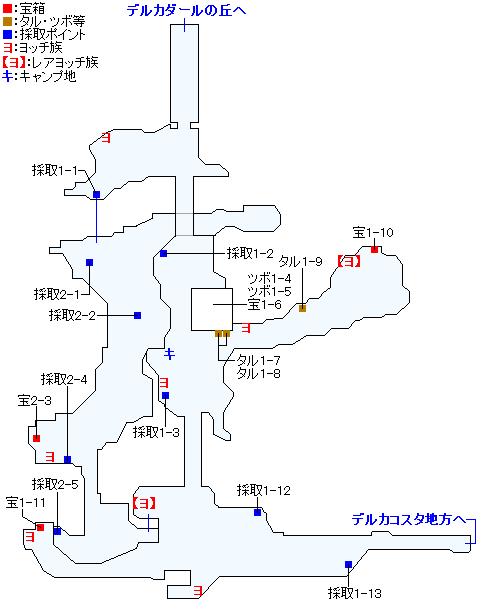 ナプガーナ密林(2Dモード)のマップ画像