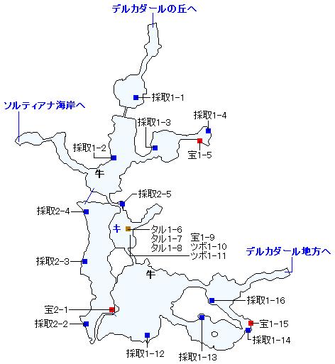 ナプガーナ密林(3DS以外の3Dモード)のマップ画像