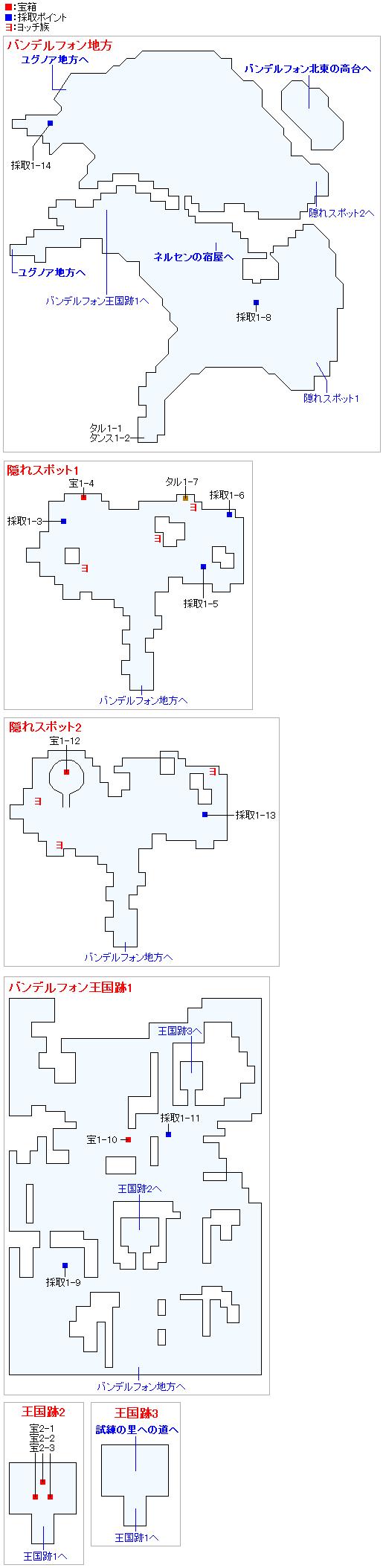 バンデルフォン地方(2Dモード)のマップ画像