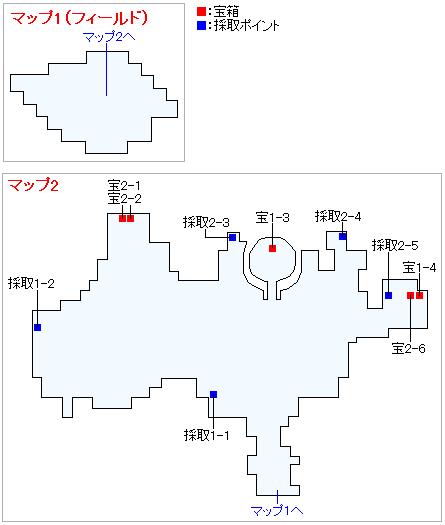 ユグノア・入り江の島(2Dモード)のマップ画像