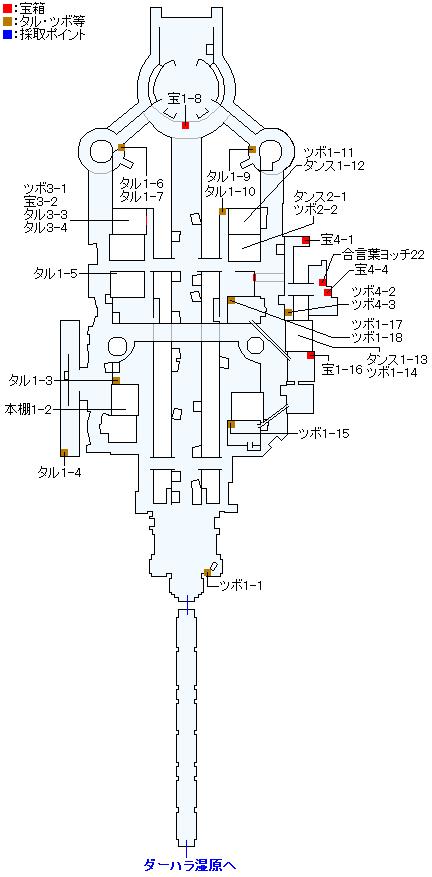 ダーハルーネの町(3DS以外の3Dモード)のマップ画像