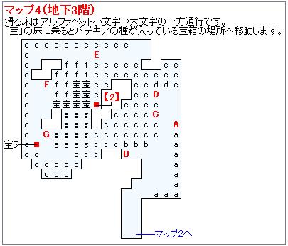 冒険の書の世界攻略マップ・パデキアの洞くつ(3)