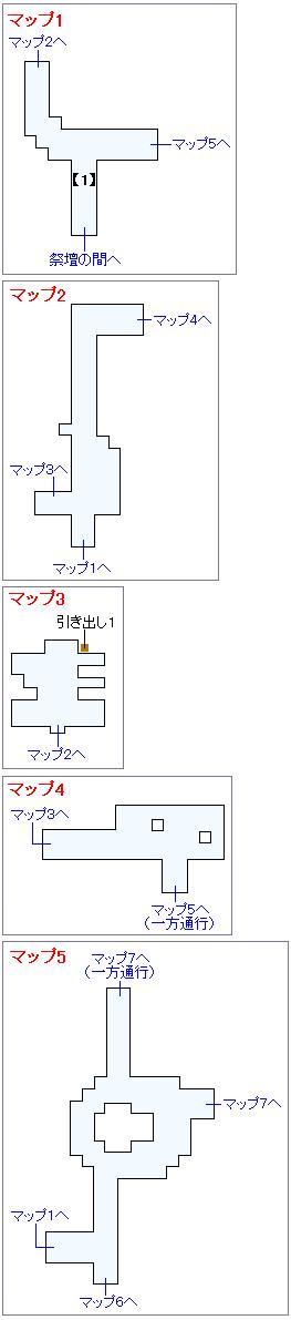 冒険の書の世界攻略マップ・迷いの森(1)