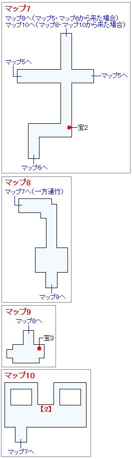 冒険の書の世界攻略マップ・迷いの森(2)