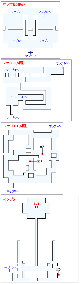 冒険の書の世界攻略マップ・天馬の塔(4)