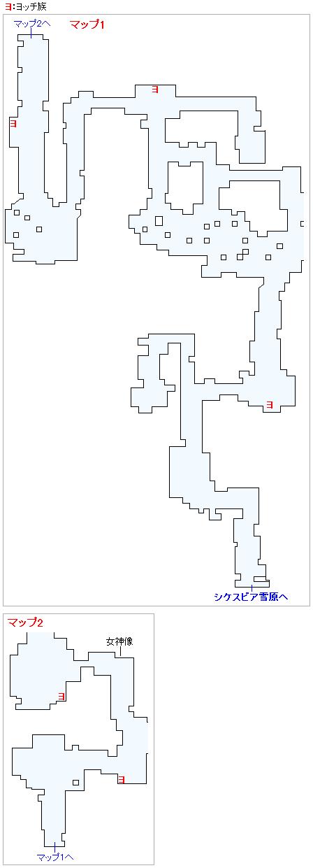 ミルレアンの森のヨッチ族の出現場所(2Dモード)