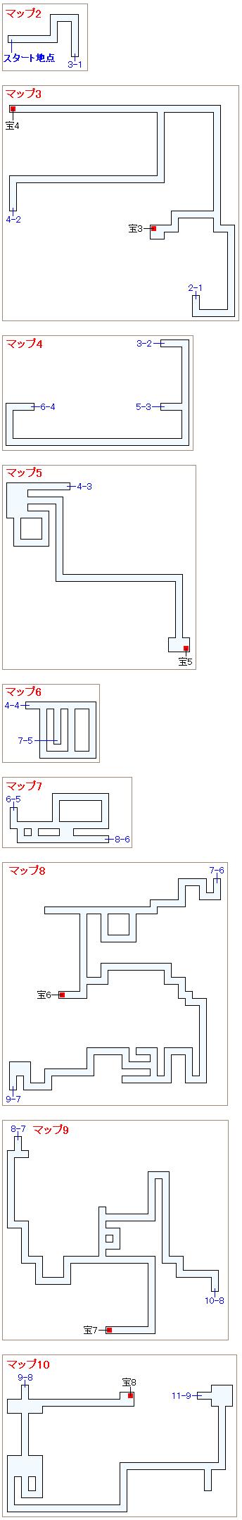 ストーリー攻略マップ・暗黒の洞窟(2)