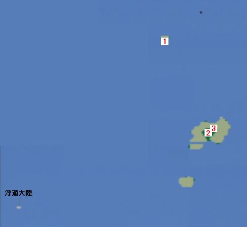 地上世界(水没)のマップ画像
