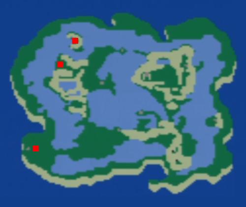 チョコボの森の場所(浮遊大陸)