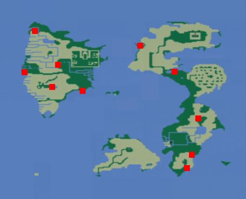 チョコボの森の場所(地上世界)