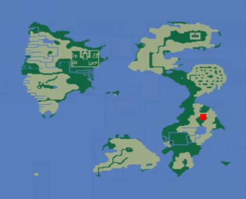 水の洞窟の場所(地上世界)