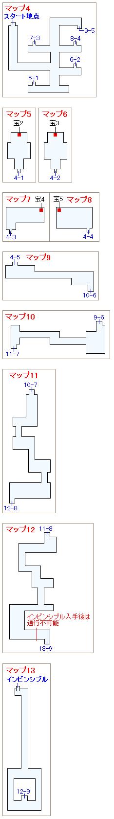 ストーリー攻略マップ・古代遺跡(3)