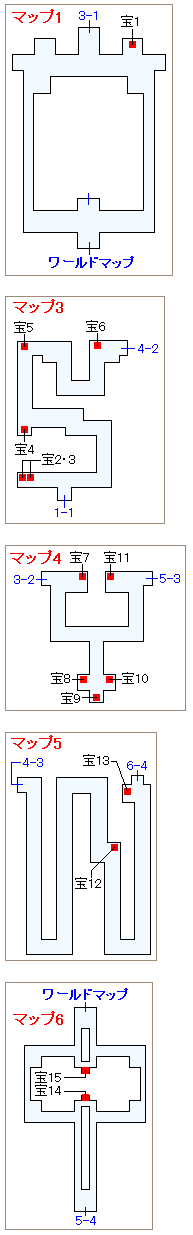 ストーリー攻略マップ・古代の民の迷宮(2)