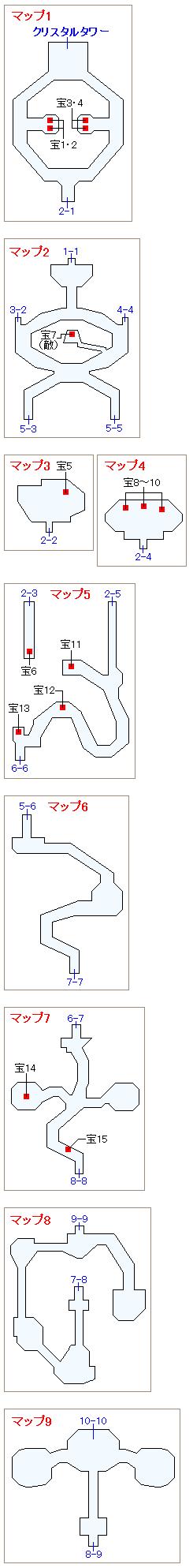 ストーリー攻略マップ・禁断の地エウレカ(1)
