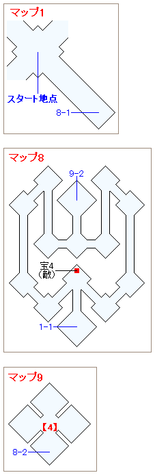 ストーリー攻略マップ・闇の世界(4)