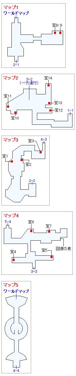 祭壇の洞窟のマップ画像