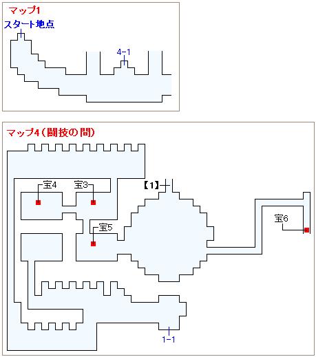 ストーリー攻略マップ・封印の神殿(1)