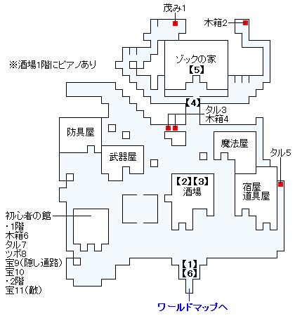 ストーリー攻略マップ・トゥールの村