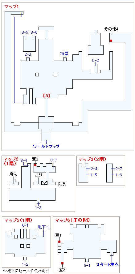 ストーリー攻略マップ・バル城(2)