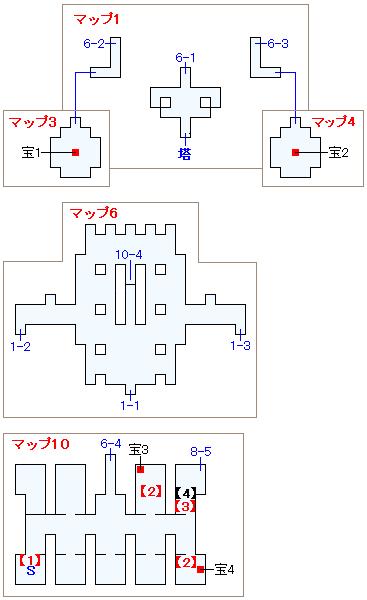 ストーリー攻略マップ・次元の狭間・次元城(1)