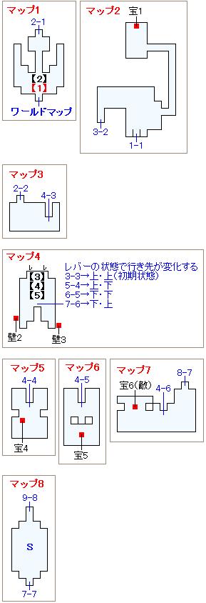 ストーリー攻略マップ・孤島の神殿(1)