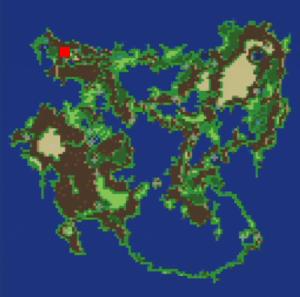 イストリーの滝の場所(第3世界)